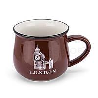 "Чашка-кувшин Zakka City ""Лондон"" (350мл) коричневый"