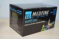 Инсулиновый шприц Wellion MEDFINE 30 шт 0.5 мл 30G x 8мм U100, фото 1