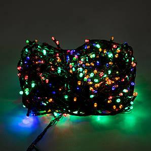 Ёлочная гирлянда светодиодная чёрная. 500 лампочек.