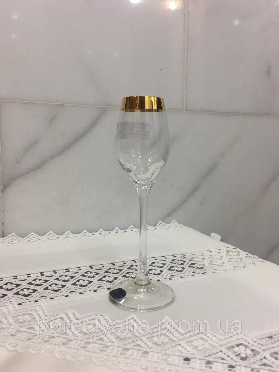 Рюмки ликер Bohemia Viola 6шт 60мл золото