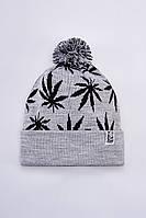Теплая шапка зимняя мужская Urban Planet WEED MEL