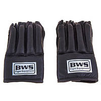 """Перчатки """"сосиски"""" BWS кожа черные"""