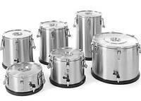 Термос из нержавеющей стали для транспортировки пищи, с краном 50 L, 710333 Hendi
