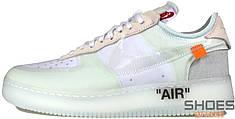 Мужские кроссовки Nike Off White x Air Force 1 White