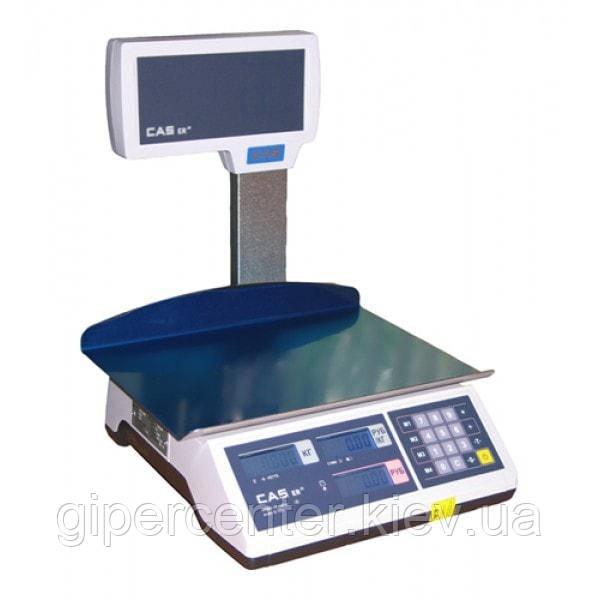 Весы торговые CAS ER JR CBU (LT) до 6 кг; со стойкой