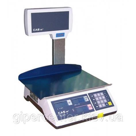 Весы торговые CAS ER JR CBU (LT) до 6 кг; со стойкой, фото 2