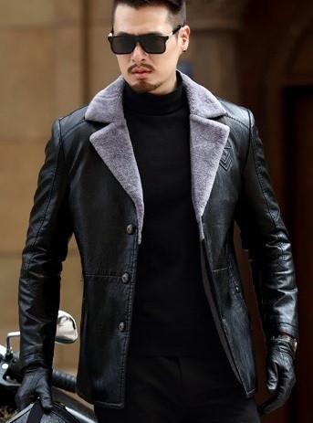 Чоловіча шкіряна куртка. Модель 61665