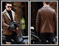 Чоловіча шкіряна куртка. Модель 61665, фото 7