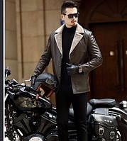 Чоловіча шкіряна куртка. Модель 61665, фото 9