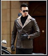 Чоловіча шкіряна куртка. Модель 61665, фото 10