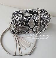 Женская сумочка на цепочке из натурального питона