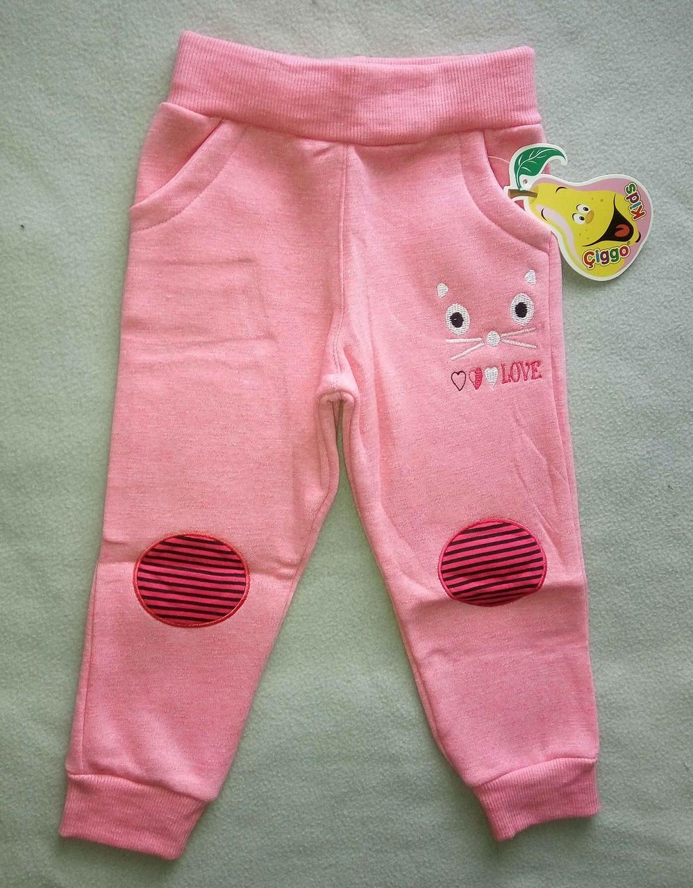 daf802aa Детские спортивные штаны с начесом для девочек 1-4 года трехнитка Турция  оптом