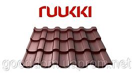 Металлочерепица Ruukki/Руукки, Adamante/Адамант (финская) RR32, Polyester mat/полиэстер мат Quality class 30