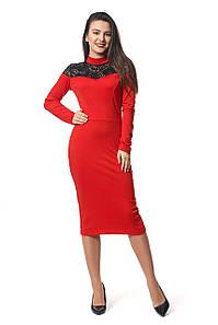 Платье Аника 0293_2 Красное