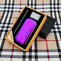 Зажигалка USB-сенсор + гравировка на заказ.  перламутровая