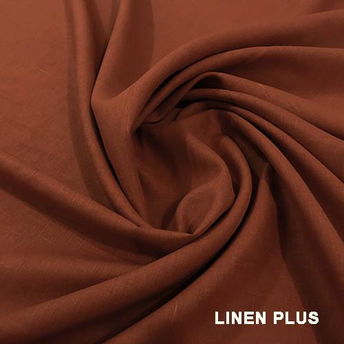 Терракотовая льняная ткань 100% лен, цвет 1248