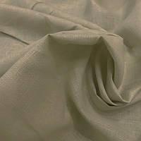 Светло-серая льняная ткань 100% лен, цвет 394