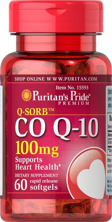 Puritan's Pride Coenzyme Q10 100 mg 60 softgel