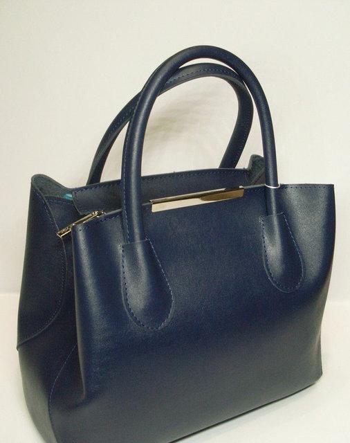 b8333b432a33 Чёрная женская сумка-шоппер Voila. Синяя женская сумка от украинского  производителя