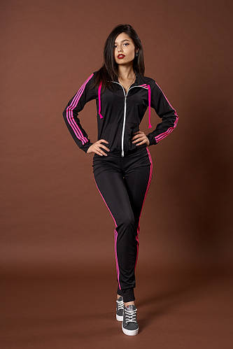1ceb956a Женский молодежный спортивный костюм. Код модели КС-13. р. S Цвет черный с  розовым.: продажа, цена в Харькове. спортивные костюмы от
