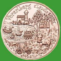 Австрия 10 евро 2013 г. Федеральные провинции - Форарльберг , UNC.