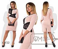 Женское платье со вставками гипюра 48,50,54,54 тл367 , фото 1