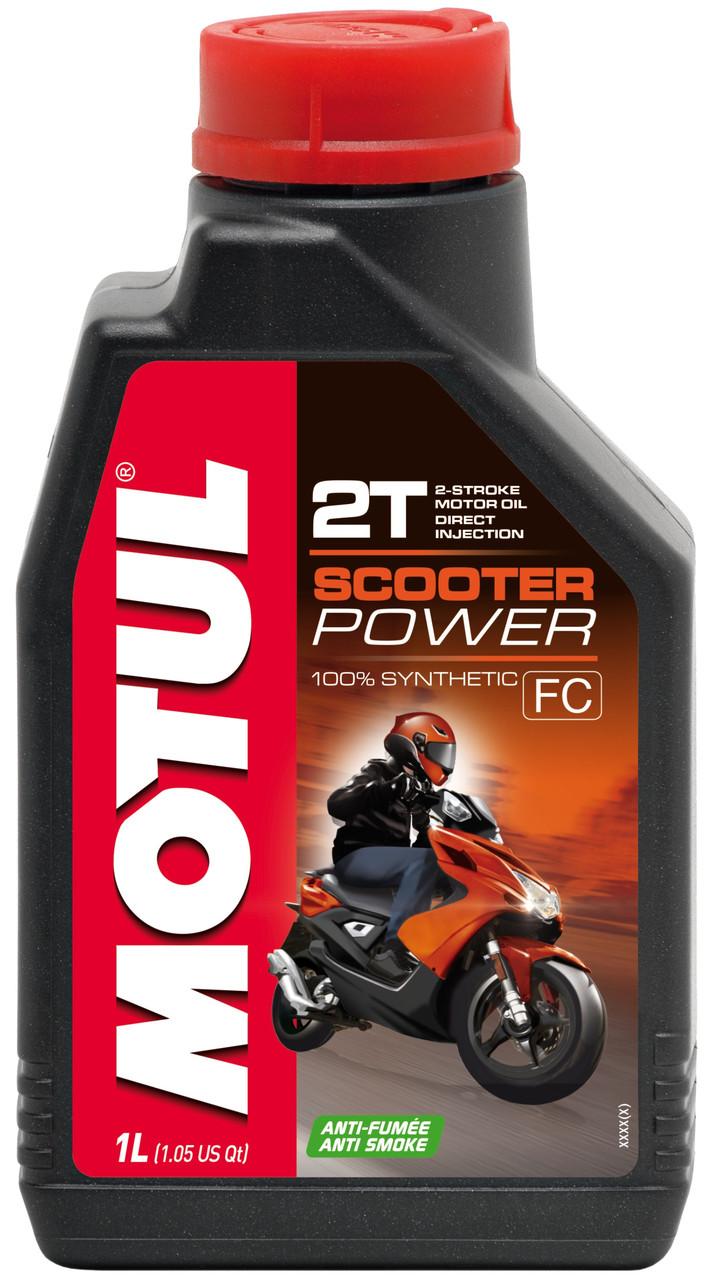 Масло для скутера синтетическое Motul Scooter Power 2T, 1л