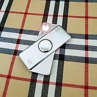 Зажигалка USB - спиннер + гравировка на заказ!  Серебро