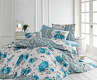 Качественный евро комплект постельного белья ТМ Nazenin Home, ранфорс ARNIA-MAVI-2