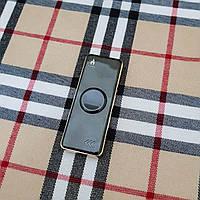 Зажигалка USB - спиннер + гравировка на заказ!  Черная