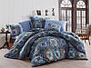 Качественный евро комплект постельного белья ТМ Nazenin Home, ранфорс Ashley-Royal