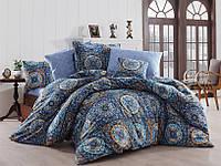 Качественный евро комплект постельного белья ТМ Nazenin Home, ранфорс Ashley-Royal, фото 1