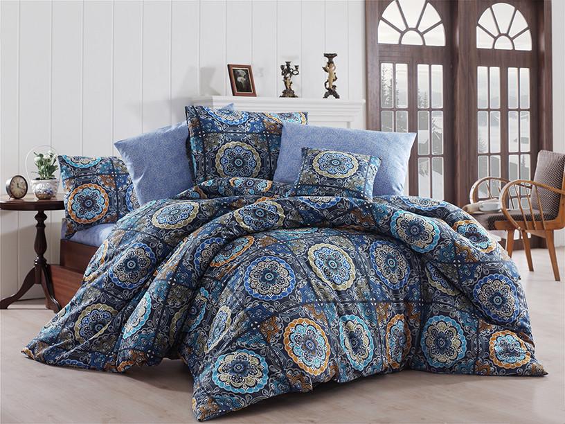 a933859dd577 Качественный евро комплект постельного белья ТМ Nazenin Home, ранфорс  Ashley-Royal