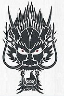 Дизайн машинной вышивки Взгляд Дракона 180 х 100 мм для вышивки на халатах и готовых изделиях