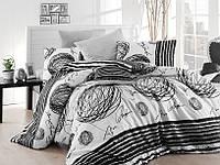 Качественный евро комплект постельного белья ТМ Nazenin Home, ранфорс Blacky, фото 1