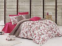 Качественный евро комплект постельного белья ТМ Nazenin Home, ранфорс BUTTERFLY-FUŞYA, фото 1