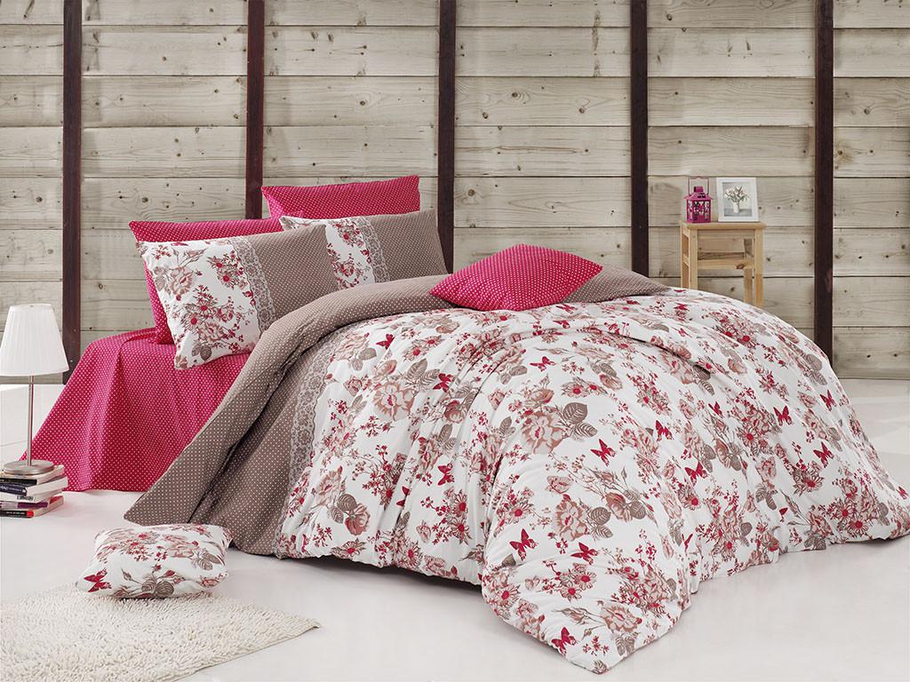 05fa754b80a7 Качественный евро комплект постельного белья ТМ Nazenin Home, ранфорс  BUTTERFLY-FUŞYA