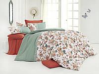Качественный евро комплект постельного белья ТМ Nazenin Home, ранфорс butterfly-kiremit, фото 1