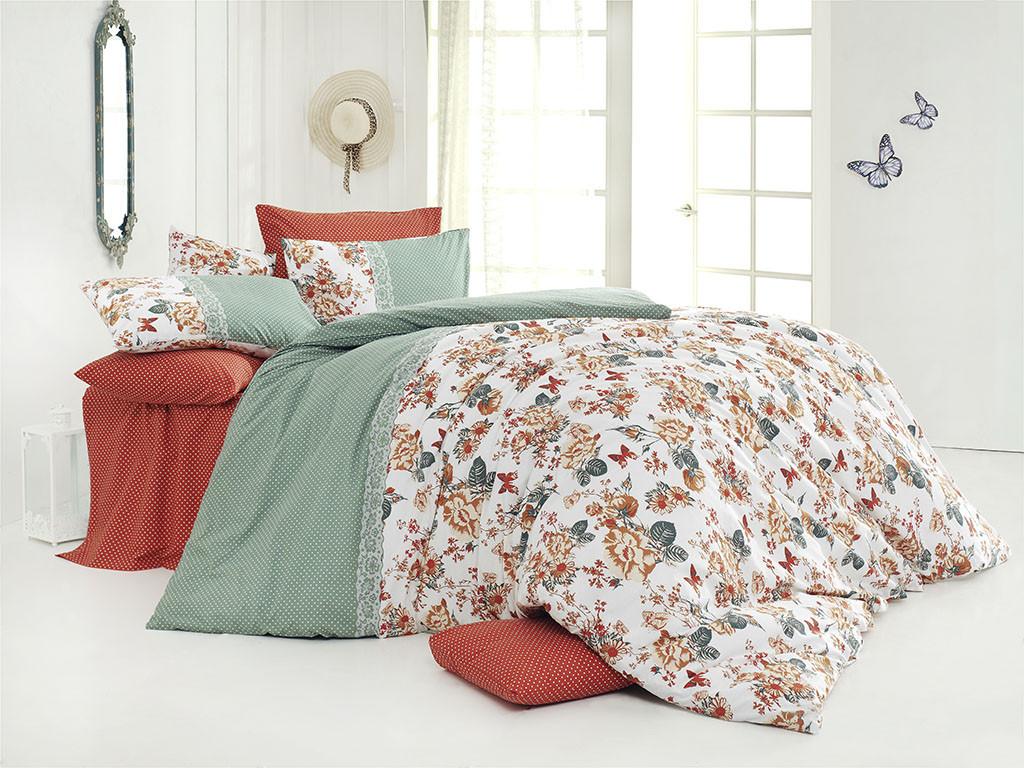 b0a92af47ea2 Качественный евро комплект постельного белья ТМ Nazenin Home, ранфорс  butterfly-kiremit - OptComfort в