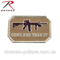 """Нашивка Airsoft Velcro Color Patch - """"Come And Take It"""""""