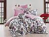 Качественный евро комплект постельного белья ТМ Nazenin Home, ранфорс Channel-Pembe