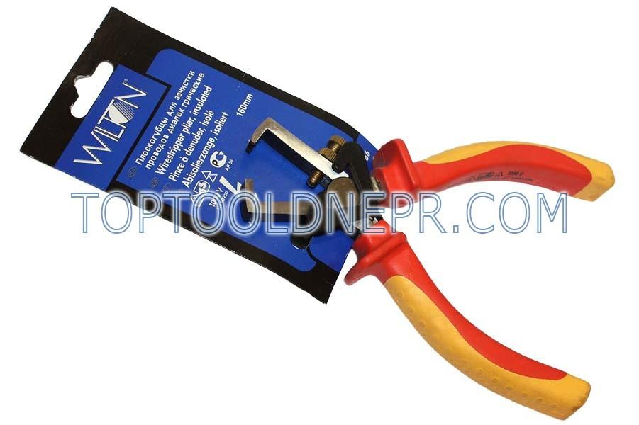 Плоскогубцы диэлектрические для зачистки проводов   Wilton    160мм с СrV пружиной