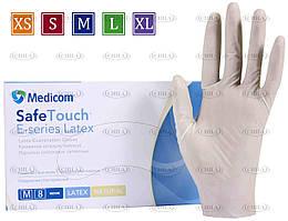 Перчатки смотровые латексные опудренные (100 шт/уп) Медиком SafeTouch® E-Series