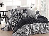 Качественный евро комплект постельного белья ТМ Nazenin Home, ранфорс Cheta-Gri, фото 1