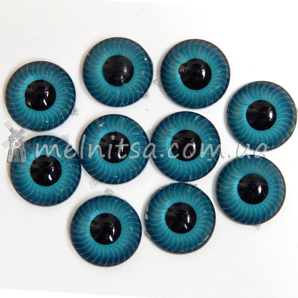 глазки для игрушек живые 12 мм бирюзовые 2 шт от интернет