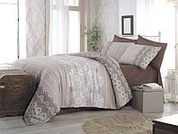 Качественный евро комплект постельного белья ТМ Nazenin Home, ранфорс DANTE/NR-113, фото 1
