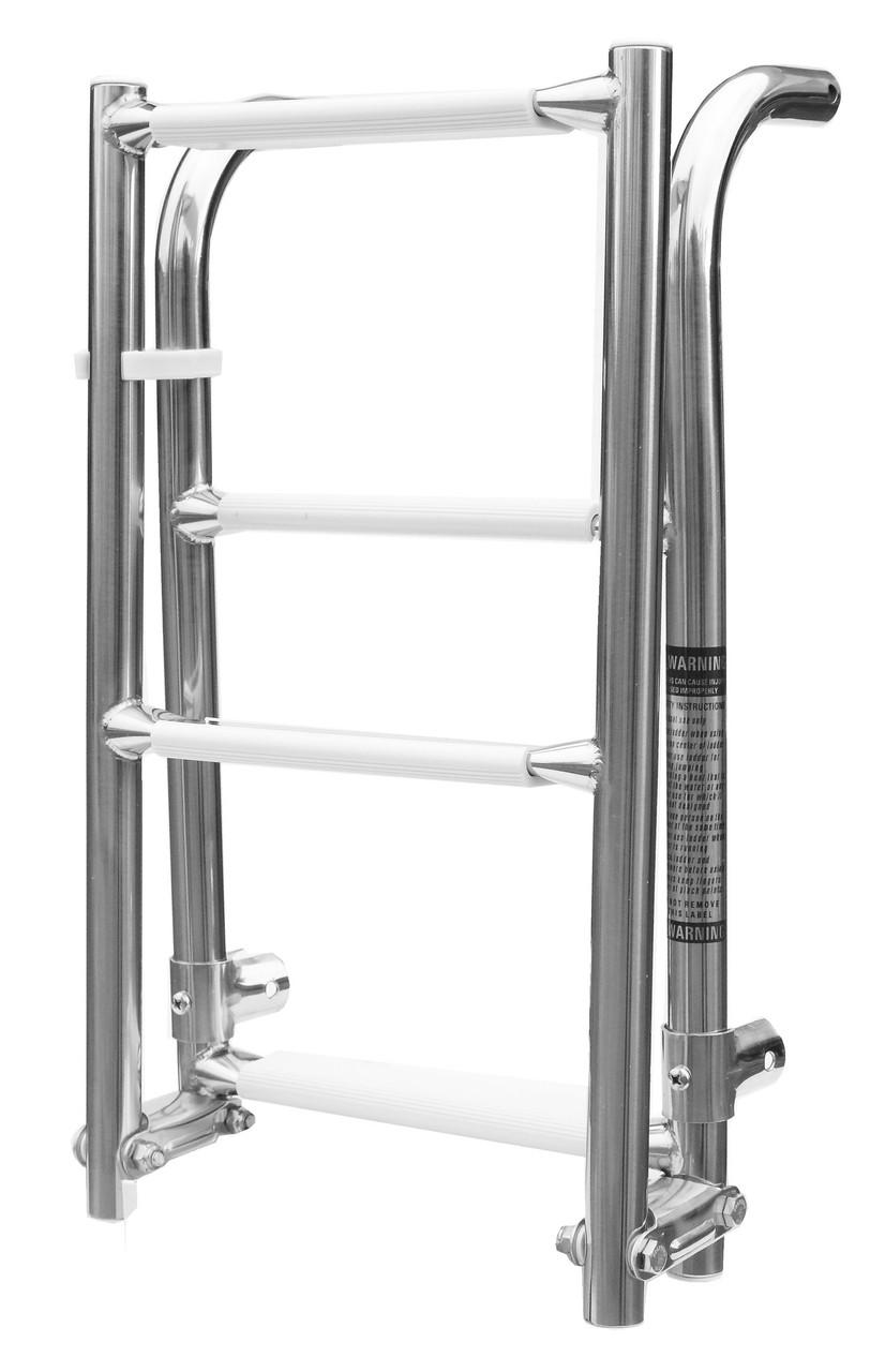 Лестница складная 2+2 1103032, нержавеющая сталь