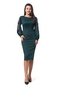Платье Дорианна 0296_3 Тёмно-зелёное