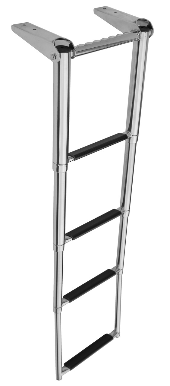 Телескопическая лестница 4 ступени 1110404, нержавеющая сталь