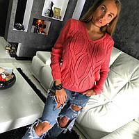 """Свитер Doratti женский модный """"Konti"""" ажурная вязка шерсть с акрилом разные цвета SSdor241"""